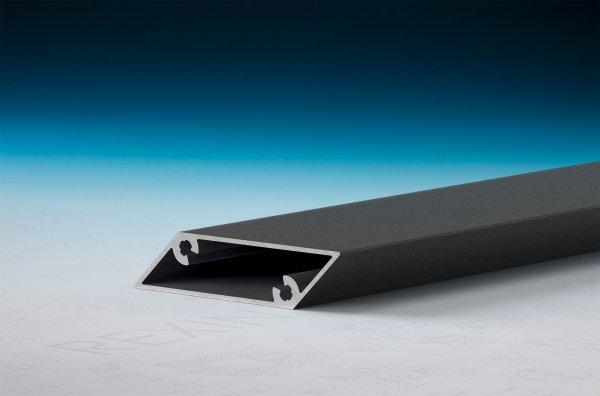 REXOpanel Alu Rhombusprofil 16mm, offen, Anthrazit