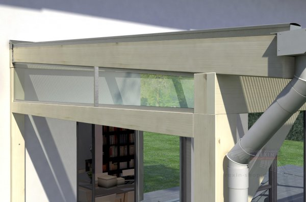 REXOcomplete Seitenkeil-Bausatz - für 3,5m Dachtiefe, inkl. 5mm Plexiglas