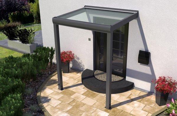 REXOvita Titan Haustür-Vordach: 1,50 x 1,00m, mit Massivplatten