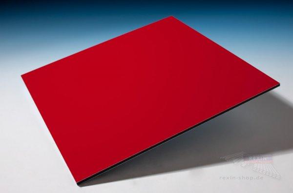 REXObond Alu-Verbundplatten, 3mm, rot ~RAL 3020