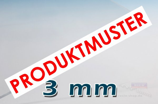 Makrolon® UV 3mm Massivplatte, klar MUSTER