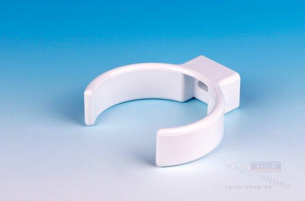 Kunststoff-Rohrschellen-Clip, weiß