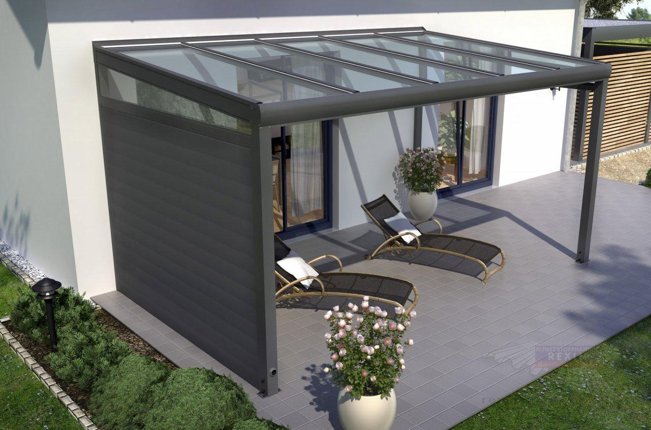 Rexin REXOcover Terrassen-Seitenwand 2,10m H'he