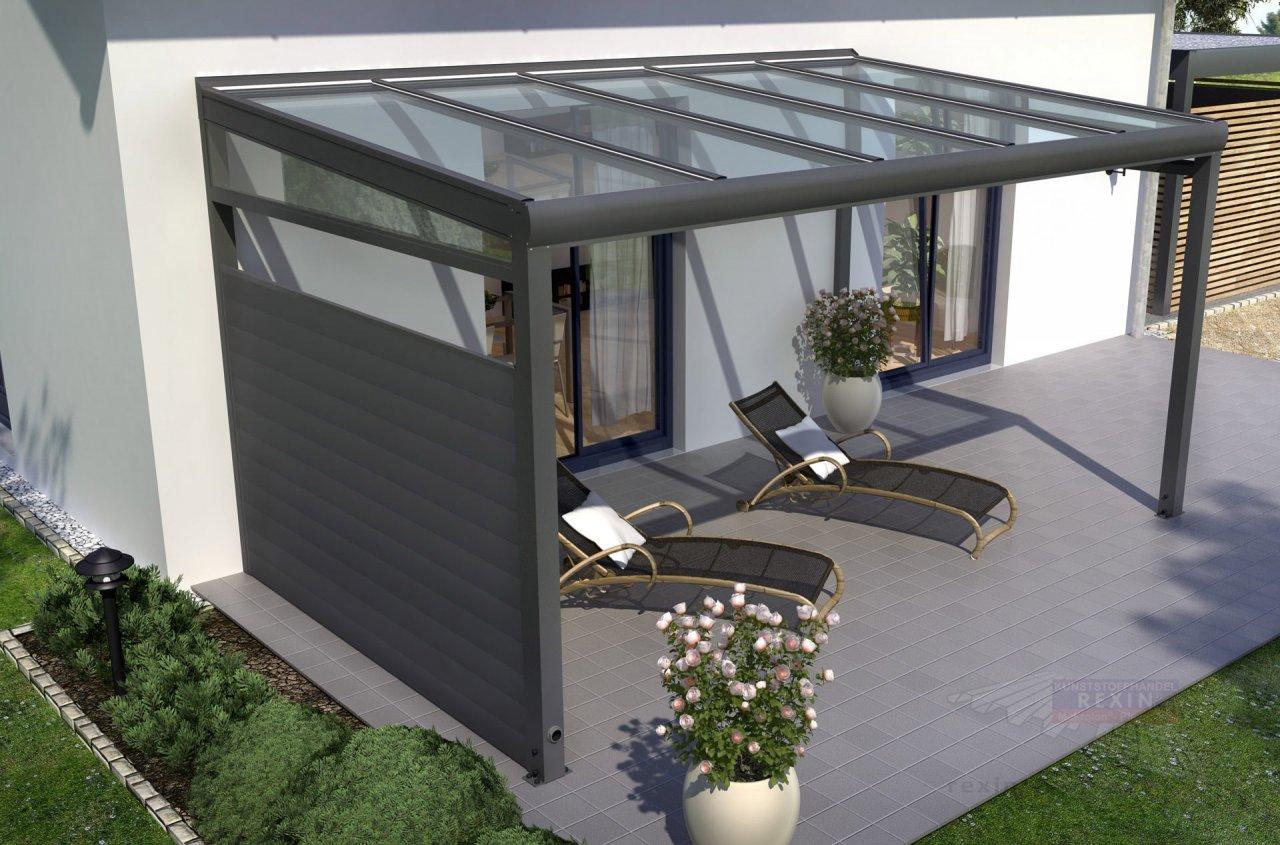 Rexin REXOcover Terrassen-Seitenwand 1,80m H'he