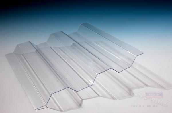 Polycarbonat Lichtplatten 76/18 Trapez, 1,0mm, transparent