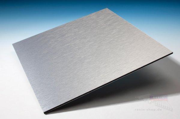 REXObond Alu-Verbundplatten, 3mm, butlerfinish silber - metallic
