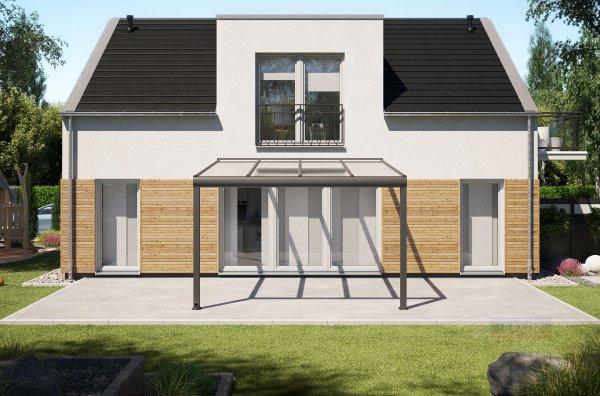 Alu-Terrassendach REXOpremium 4x4m