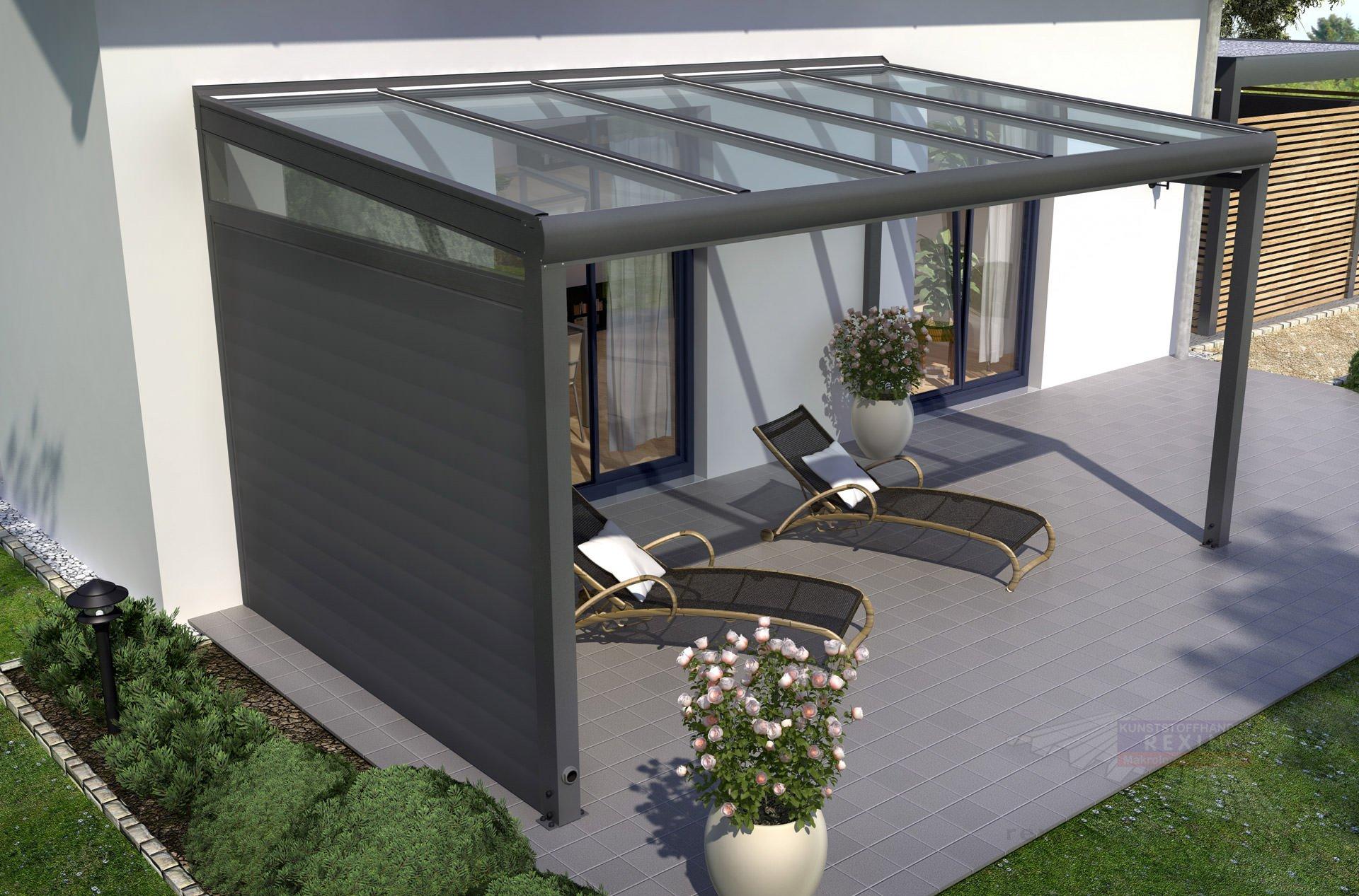 Terrasse Anthrazit seitenwände und brüstungen für terrassenüberdachungen neu im shop