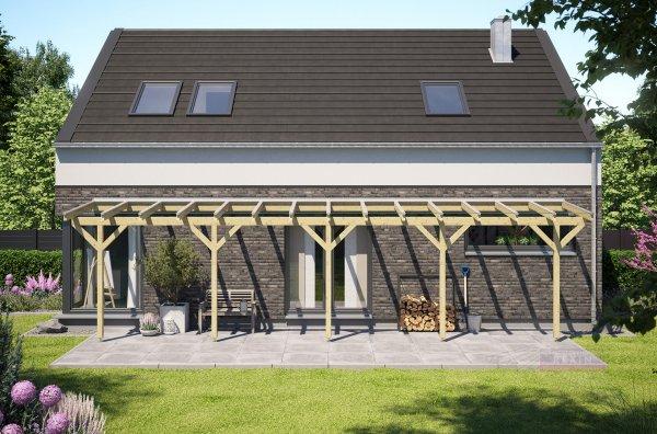 REXOcomplete Holz Terrassenüberdachung XXL VSG 10m x 2m