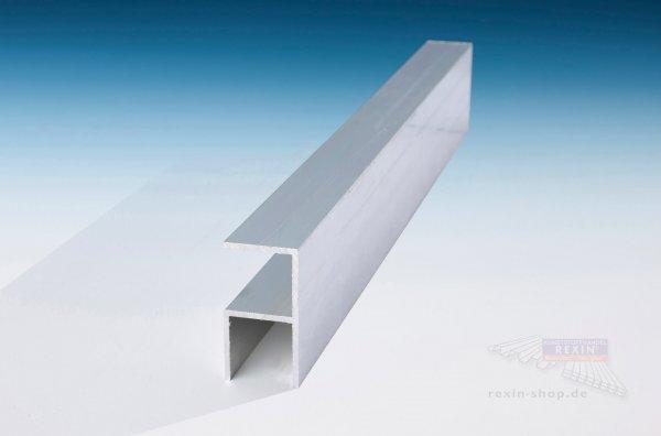 REXOsystem Alu-90°-Schiene, für 16mm Platten, pressblank