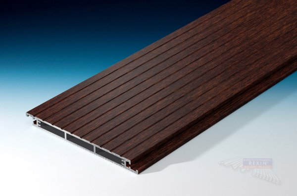 REXOfloor Alu Terrassendiele Holzdekor Wenge