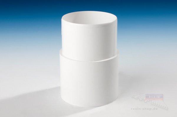 Kunststoff-Rohrmuffe zum Stecken, weiß