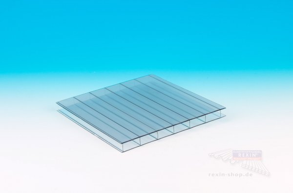 REXOclear 2-fach-Stegplatte Deluxe, 16mm, transparent-hitzestop