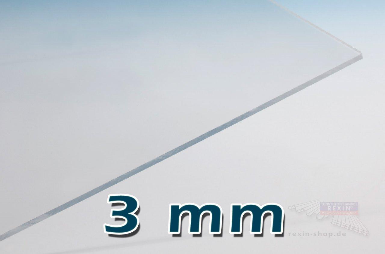 Covestro Makrolon Platten, 3mm transparent