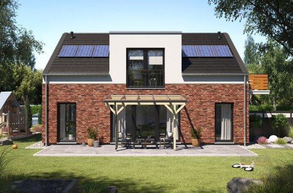 REXOmaster Holz Terrassenüberdachung VSG 4m x 2,5m