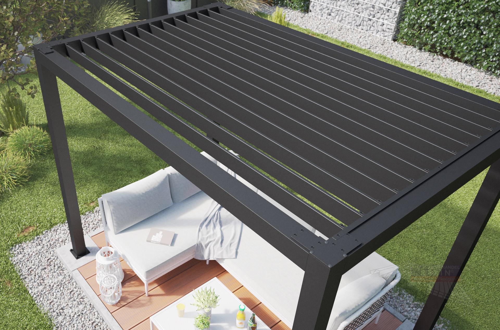Lamellendach für REXOcube Pergola 200m x 20m, lange Seite