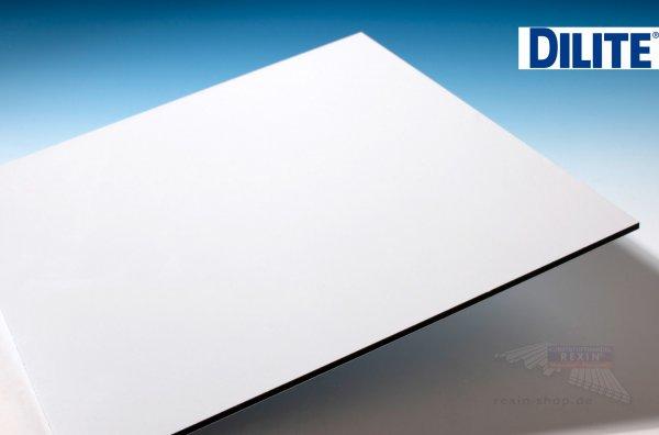 Dilite Alu-Verbund, 4mm, weiss ~RAL 9016