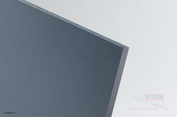 Hart-PVC Platte, dunkelgrau