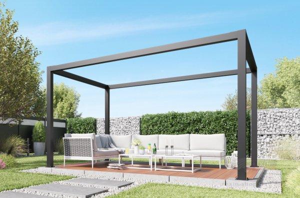 REXOcube Pergola aus Aluminium 4m x 3m