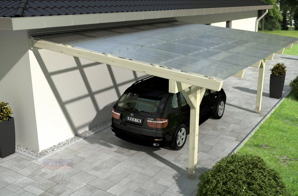 "REXObasic ""Welle"" Holz-Carport: 6.86m x 3.50m"