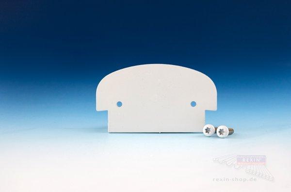 REXOguard Alu-Handlauf Endkappen-Set, weiß
