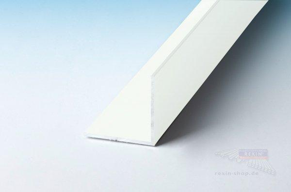 Aluminium-Winkelprofil 30mm x 30mm x 2mm, weiß