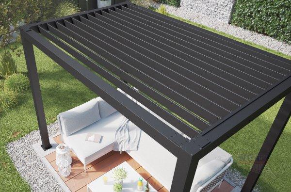Lamellendach für REXOcube Pergola 3m x 2m, lange Seite