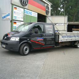 Einer unserer Lieferfahrzeuge