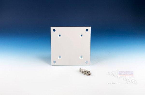 REXOpremium Bodenplatte für Mittelpfosten, weiß