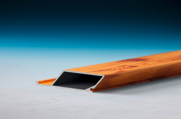 REXOpanel Alu Rhombusprofil 16mm, geschlossen, Holzdekor Fichte