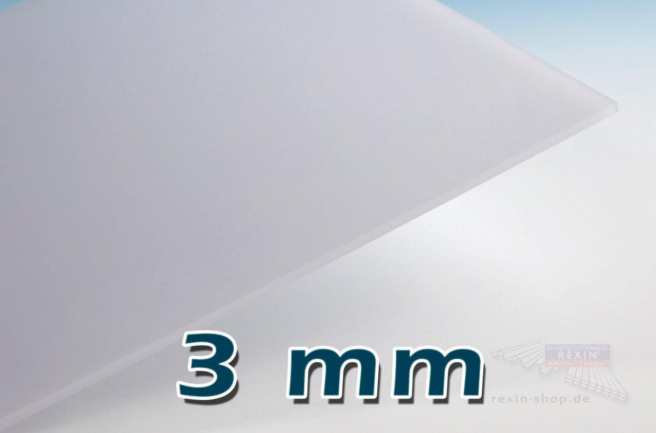Covestro Makrolon® UV 3mm Massivplatte, opal (2150)