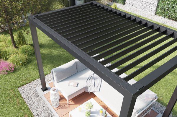 Lamellendach für REXOcube Pergola 3m x 2m, kurze Seite