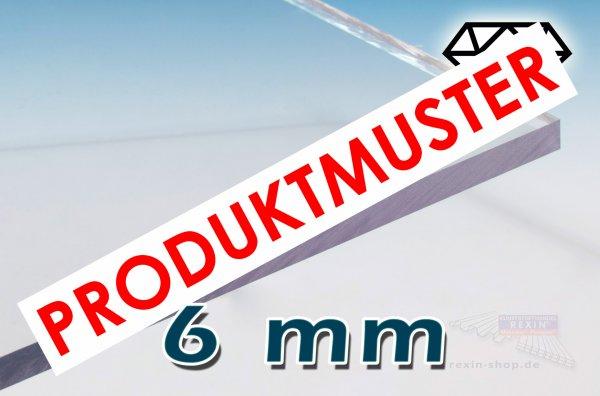 Saphir UV 6mm Massivplatte, klar KRATZFEST MUSTER