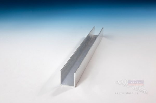 Aluminium-U-Profil 20mm x 20mm x 20mm x 1.5mm, pressblank