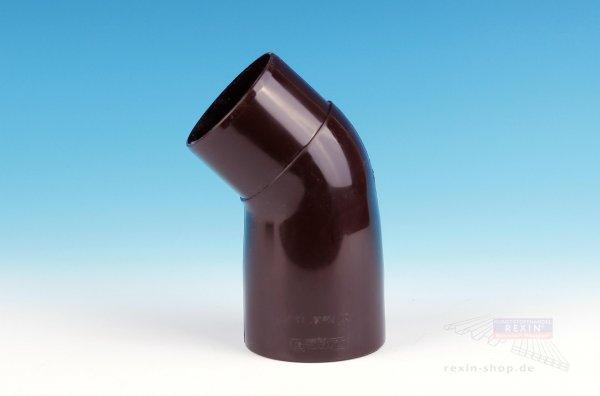 Kunststoff-Rohrbogen 45°, braun