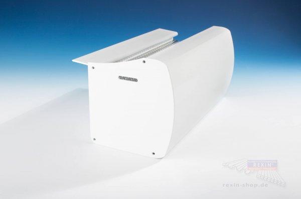 Alu-Endkappen-Set für runde XL-Regenrinnen, weiß