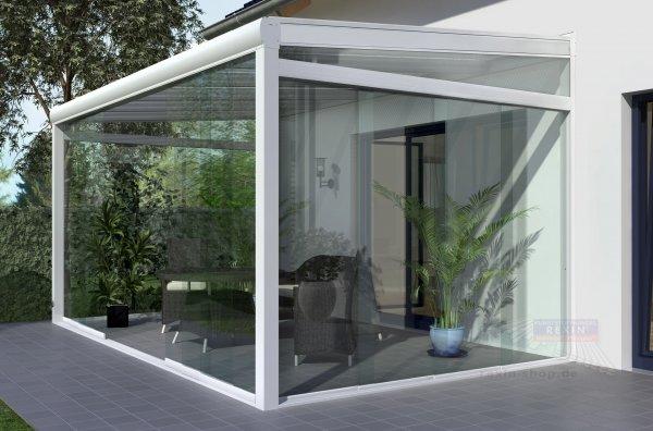 REXOslide Glasschiebewand - 3,5m Breite, 4-spurig