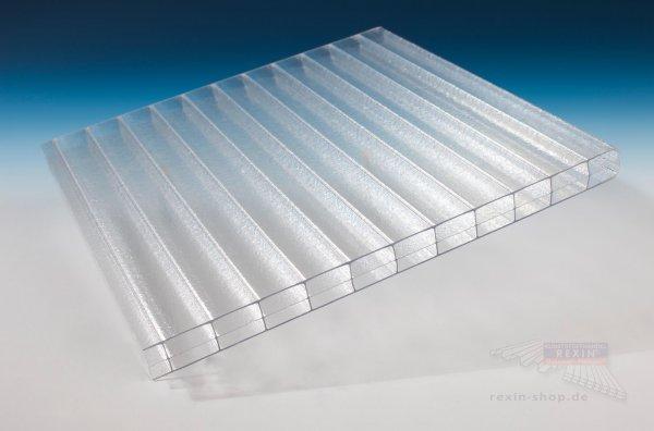 REXOclear 3-fach-Stegplatte, 16mm, eiskristall (transparent) 1.200mm Breite ** Abverkauf **