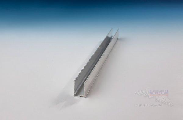 Alu-U-Profil, mit Tropfkante für 10mm Platten
