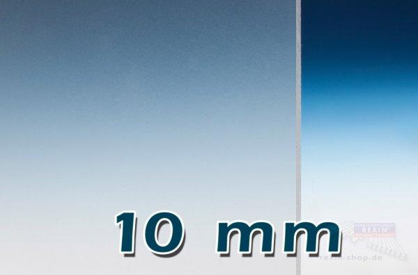 PLEXIGLAS® GS Massivplatte, 10mm, klar satiniert
