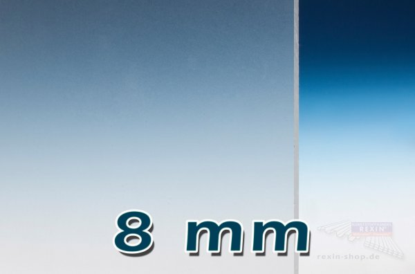 PLEXIGLAS® GS Massivplatte, 8mm, klar satiniert