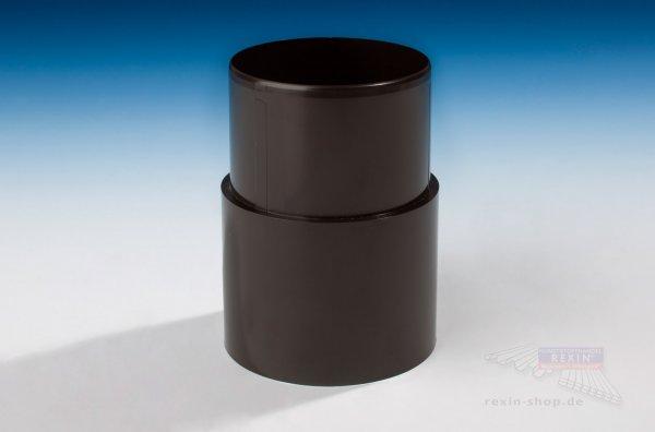 Kunststoff-Rohrmuffe zum Stecken, braun