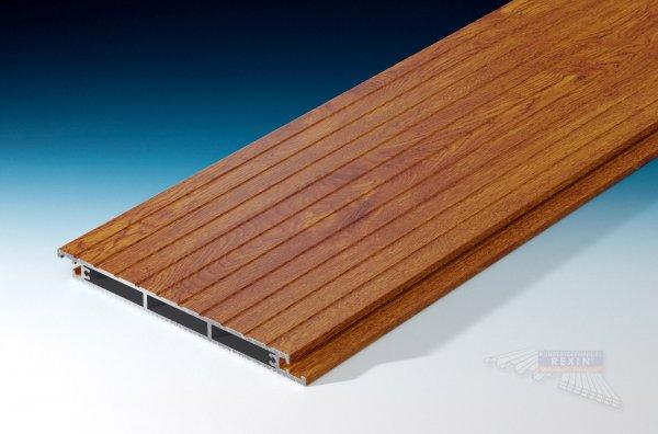 REXOfloor Alu Terrassendiele 'Grip' Holzdekor Golden Oak