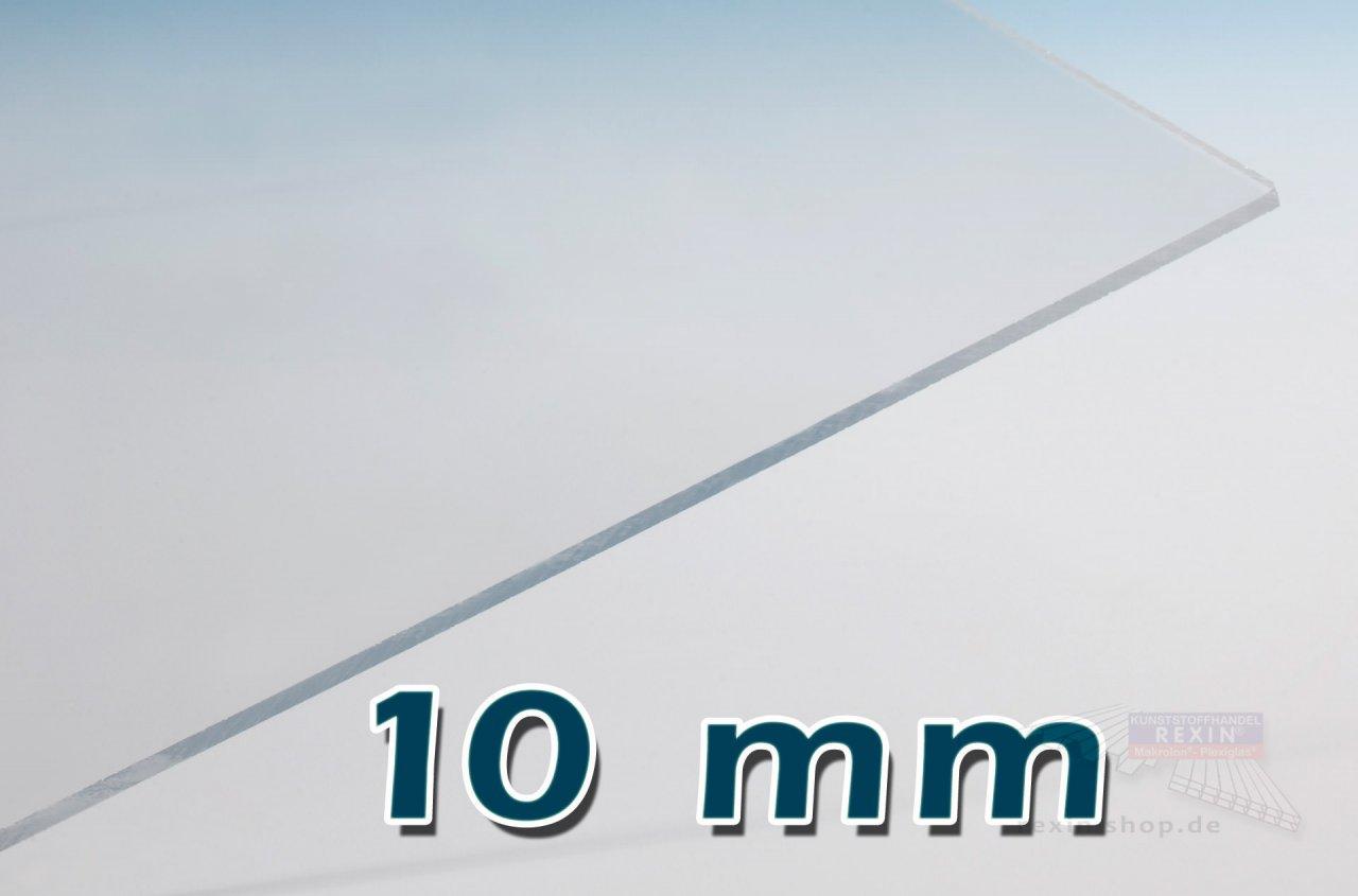 Covestro Makrolon® UV 10mm Massivplatte, klar