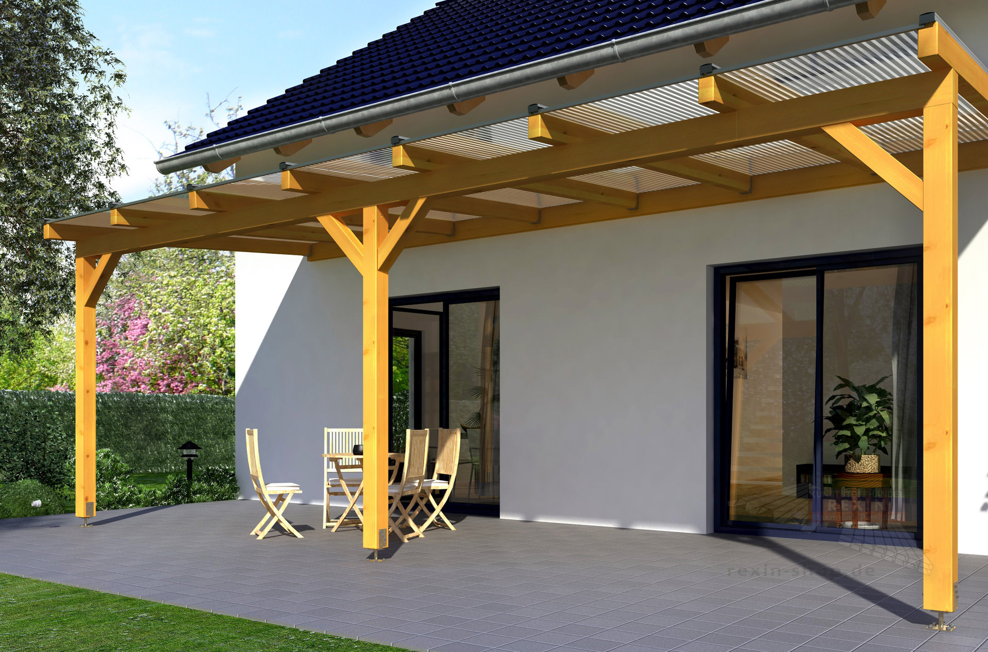 REXOcomplete Holz Terrassenüberdachung 6m x 4m ▷ Rexin-Shop