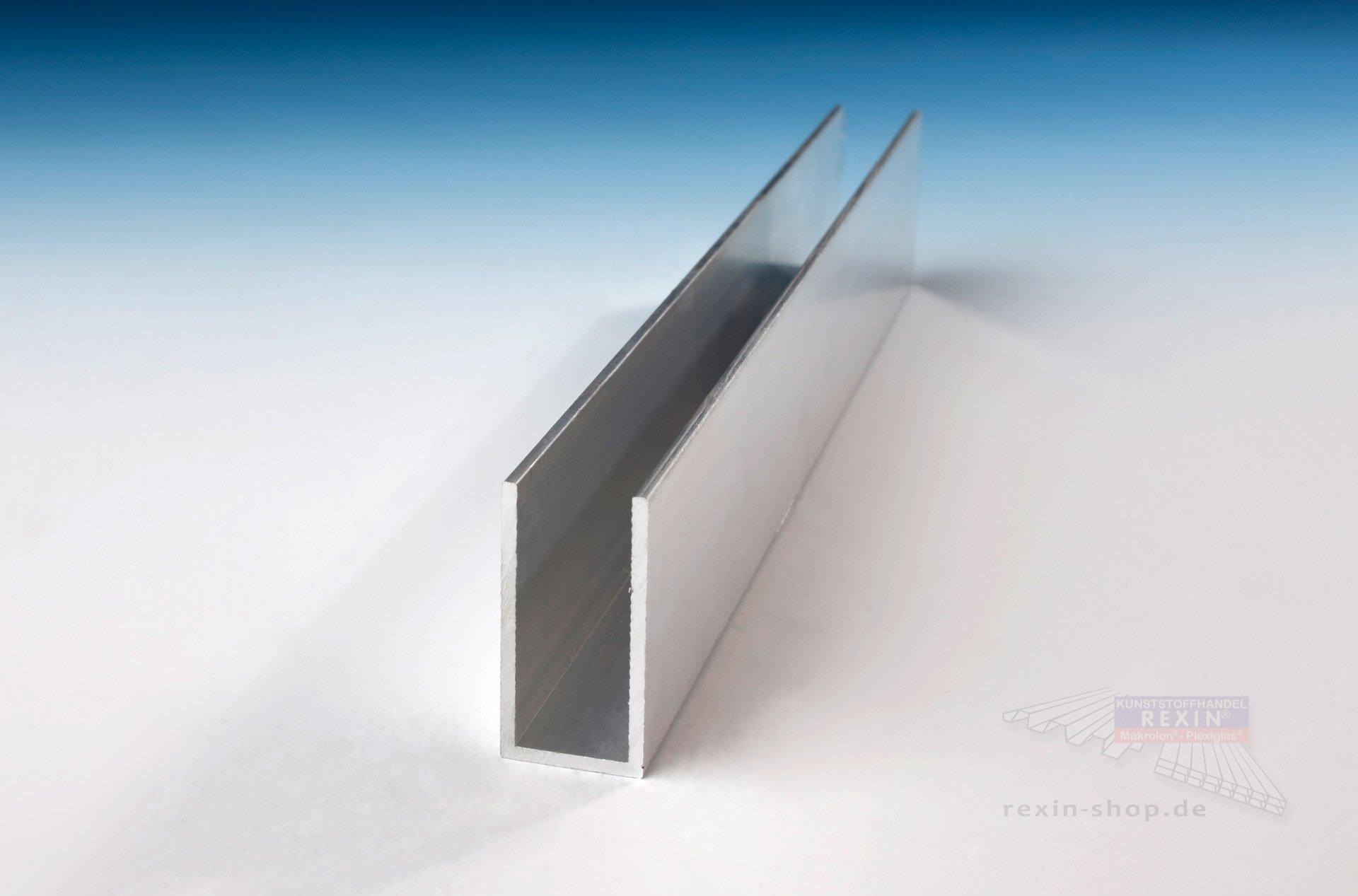 Sehr Gut Aluminium-U-Profil 40mm x 20mm x 40mm x 2mm, pressblank ▷ Rexin-Shop QC25