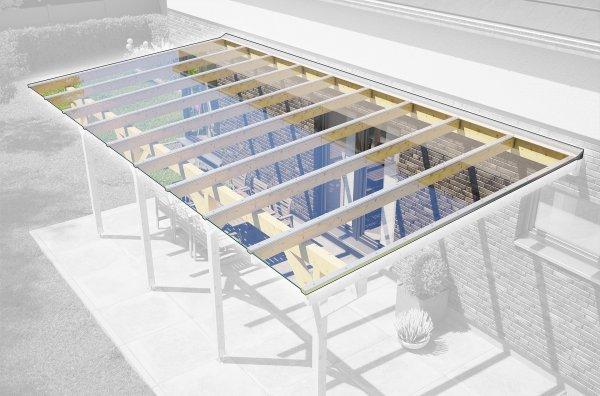 REXOtop Dachhaut 10m x 4m für VSG Glas
