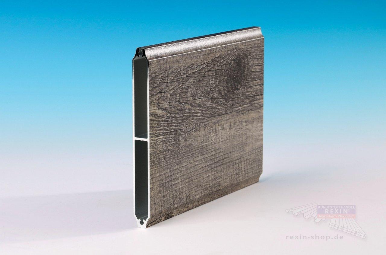 Rexin REXOboard Alu-Balkonbretter, konkav 150mm, Holzdekor