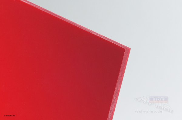 Hart-PVC Platte, rot