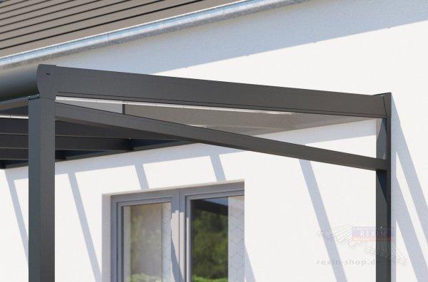 REXOpremium Seitenkeil - für 2,50m Dachtiefe, inkl. 5mm PLEXIGLAS®